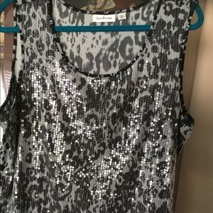 Joan Rivers Tops - By Joan Rivers a very cute sequined top size XL